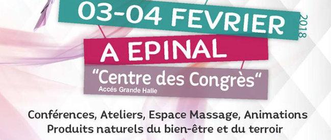Salon Vitalité et Bien Etre à Epinal 03 et 04 février 2018